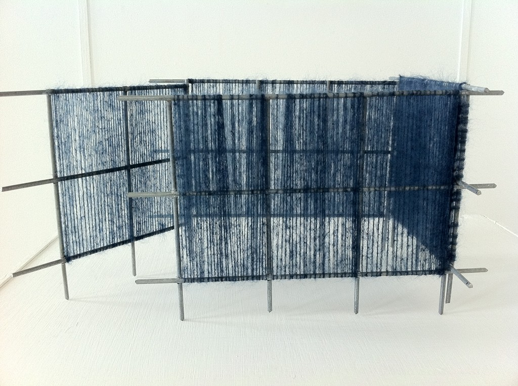 Mohair woven onto metal structure 2012