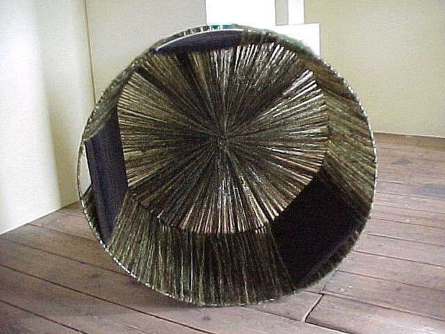 'Tank' Wool Woven onto Metal Structure, 2000