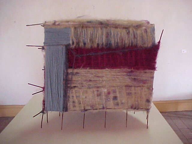 'Untitled' Wool Woven onto Metal Structure, 2000