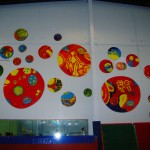 'Circulus'. Mural created by Community Arts Group at Hawthorn Town Hall Gallery. Project funded by Boorondara City Council. http://www.townhallgallery.com.au/p/about-town-hall-gallery.html